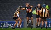12 December 2020; Kilkenny players Michelle Teehan, left, and Meighan Farrell celebrate after the Liberty Insurance All-Ireland Senior Camogie Championship Final match between Galway and Kilkenny at Croke Park in Dublin. Photo by Piaras Ó Mídheach/Sportsfile