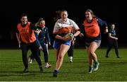 16 December 2020; Sadbh Atkinson in action during a Railway Union RFC Girls 'Give it a Try' training session at Railway Union RFC in Park Avenue, Dublin. Photo by Matt Browne/Sportsfile