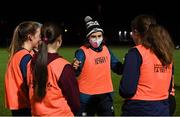 16 December 2020; Leinster player Eve Higgins with players during a Railway Union RFC Girls 'Give it a Try' training session at Railway Union RFC in Park Avenue, Dublin. Photo by Matt Browne/Sportsfile