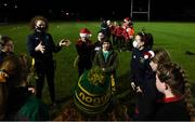 16 December 2020; Leinster player Aoife McDermott with players during a Railway Union RFC Girls 'Give it a Try' training session at Railway Union RFC in Park Avenue, Dublin. Photo by Matt Browne/Sportsfile