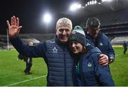 13 December 2020; Limerick manager John Kiely with sports psychologist Caroline Currid following the GAA Hurling All-Ireland Senior Championship Final match between Limerick and Waterford at Croke Park in Dublin. Photo by David Fitzgerald/Sportsfile