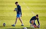 18 December 2020; Harry Byrne, left, and Ross Byrne during the Leinster Rugby Captains Run at the RDS Arena in Dublin. Photo by Ramsey Cardy/Sportsfile