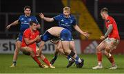 18 December 2020; Andrew Smith of Leinster is tackled by Alex Kendellen of Munster during the A Interprovincial Friendly match between Munster A and Leinster A at Thomond Park in Limerick. Photo by Brendan Moran/Sportsfile