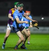 18 December 2020; Donal Leavy of Dublin in action against Conall Clancy of Wexford during the Bord Gais Energy Leinster Under 20 Hurling Championship Semi-Final match between Wexford and Dublin at Netwatch Cullen Park in Carlow. Photo by Matt Browne/Sportsfile