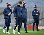 19 December 2020; Galway players walk the pitch prior to the EirGrid GAA Football All-Ireland Under 20 Championship Final match between Dublin and Galway at Croke Park in Dublin. Photo by Eóin Noonan/Sportsfile