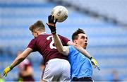 19 December 2020; Brian O'Leary of Dublin in action against Jonathan McGrath of Galway during the EirGrid GAA Football All-Ireland Under 20 Championship Final match between Dublin and Galway at Croke Park in Dublin. Photo by Piaras Ó Mídheach/Sportsfile