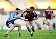 19 December 2020; Ciarán Archer of Dublin in action against Jack Glynn of Galway during the EirGrid GAA Football All-Ireland Under 20 Championship Final match between Dublin and Galway at Croke Park in Dublin. Photo by Eóin Noonan/Sportsfile
