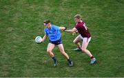 19 December 2020; Mark Lavin of Dublin in action against Jack Kirrane of Galway during the EirGrid GAA Football All-Ireland Under 20 Championship Final match between Dublin and Galway at Croke Park in Dublin. Photo by Daire Brennan/Sportsfile