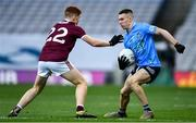 19 December 2020; Lee Gannon of Dublin in action against Alan Greene of Galway during the EirGrid GAA Football All-Ireland Under 20 Championship Final match between Dublin and Galway at Croke Park in Dublin. Photo by Sam Barnes/Sportsfile