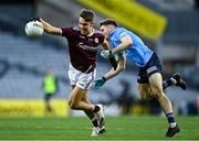 19 December 2020; Ryan Monahan of Galway is tackled by Rory Dwyer of Dublin during the EirGrid GAA Football All-Ireland Under 20 Championship Final match between Dublin and Galway at Croke Park in Dublin. Photo by Piaras Ó Mídheach/Sportsfile