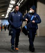 19 December 2020; Michael Darragh MacAuley, left, and Kevin McManamon of Dublin arrive ahead of the GAA Football All-Ireland Senior Championship Final match between Dublin and Mayo at Croke Park in Dublin. Photo by Stephen McCarthy/Sportsfile