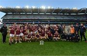 19 December 2020; The Galway team celebrate with the cup following the EirGrid GAA Football All-Ireland Under 20 Championship Final match between Dublin and Galway at Croke Park in Dublin. Photo by Sam Barnes/Sportsfile