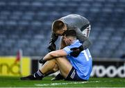 19 December 2020; Galway goalkeeper Conor Flaherty with Luke Swan of Dublin after the EirGrid GAA Football All-Ireland Under 20 Championship Final match between Dublin and Galway at Croke Park in Dublin. Photo by Ray McManus/Sportsfile