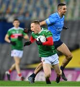 19 December 2020; Ryan O'Donoghue of Mayo in action against James McCarthy of Dublin during the GAA Football All-Ireland Senior Championship Final match between Dublin and Mayo at Croke Park in Dublin. Photo by Eóin Noonan/Sportsfile