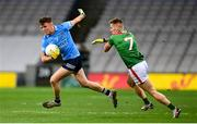 19 December 2020; Robert McDaid of Dublin in action against Eoghan McLaughlin of Mayo during the GAA Football All-Ireland Senior Championship Final match between Dublin and Mayo at Croke Park in Dublin. Photo by Stephen McCarthy/Sportsfile
