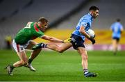 19 December 2020; Niall Scully of Dublin in action against Eoghan McLaughlin of Mayo during the GAA Football All-Ireland Senior Championship Final match between Dublin and Mayo at Croke Park in Dublin. Photo by Stephen McCarthy/Sportsfile