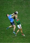 19 December 2020; Oisín Mullin of Mayo in action against Con O'Callaghan of Dublin during the GAA Football All-Ireland Senior Championship Final match between Dublin and Mayo at Croke Park in Dublin. Photo by Daire Brennan/Sportsfile