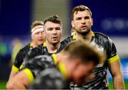 19 December 2020; Peter O'Mahony, left, and Tadhg Beirne of Munster during the warm up ahead of the Heineken Champions Cup Pool B Round 2 match between ASM Clermont Auvergne and Munster at Stade Marcel-Michelin in Clermont-Ferrand, France. Photo by Julien Poupart/Sportsfile