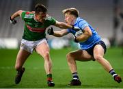 19 December 2020; Seán Bugler of Dublin in action against Stephen Coen of Mayo during the GAA Football All-Ireland Senior Championship Final match between Dublin and Mayo at Croke Park in Dublin. Photo by Stephen McCarthy/Sportsfile