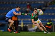 19 December 2020; Eoghan McLaughlin of Mayo in action against Dean Rock of Dublin during the GAA Football All-Ireland Senior Championship Final match between Dublin and Mayo at Croke Park in Dublin. Photo by Sam Barnes/Sportsfile