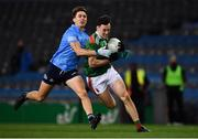 19 December 2020; Diarmuid O'Connor of Mayo in action against Michael Fitzsimons of Dublin during the GAA Football All-Ireland Senior Championship Final match between Dublin and Mayo at Croke Park in Dublin. Photo by Sam Barnes/Sportsfile