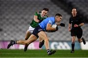 19 December 2020; David Byrne of Dublin in action against Diarmuid O'Connor of Mayo during the GAA Football All-Ireland Senior Championship Final match between Dublin and Mayo at Croke Park in Dublin. Photo by Sam Barnes/Sportsfile