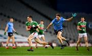 19 December 2020; Diarmuid O'Connor of Mayo in action against Michael Fitzsimons of Dublin during the GAA Football All-Ireland Senior Championship Final match between Dublin and Mayo at Croke Park in Dublin. Photo by Stephen McCarthy/Sportsfile