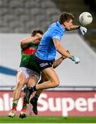 19 December 2020; Michael Fitzsimons of Dublin in action against Lee Keegan of Mayo during the GAA Football All-Ireland Senior Championship Final match between Dublin and Mayo at Croke Park in Dublin. Photo by Stephen McCarthy/Sportsfile