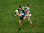 19 December 2020; Brian Fenton of Dublin in action against Diarmuid O'Connor of Mayo during the GAA Football All-Ireland Senior Championship Final match between Dublin and Mayo at Croke Park in Dublin. Photo by Daire Brennan/Sportsfile