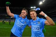 19 December 2020; Dean Rock, left, and Jonny Cooper of Dublin celebrate following the GAA Football All-Ireland Senior Championship Final match between Dublin and Mayo at Croke Park in Dublin. Photo by Eóin Noonan/Sportsfile
