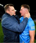 19 December 2020; Dublin manager Dessie Farrell and Ciarán Kilkenny celebrate following the GAA Football All-Ireland Senior Championship Final match between Dublin and Mayo at Croke Park in Dublin. Photo by Seb Daly/Sportsfile