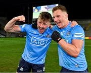 19 December 2020; Seán Bugler, left, and Ciarán Kilkenny of Dublin celebrate following their side's victory in the GAA Football All-Ireland Senior Championship Final match between Dublin and Mayo at Croke Park in Dublin. Photo by Seb Daly/Sportsfile
