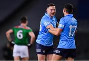 19 December 2020; Philip McMahon, left, and Colm Basquel of Dublin celebrate following the GAA Football All-Ireland Senior Championship Final match between Dublin and Mayo at Croke Park in Dublin. Photo by Sam Barnes/Sportsfile