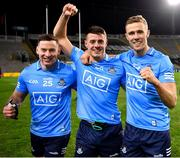 19 December 2020; Philip McMahon, Brian Howard and Paul Mannion of Dublin after the GAA Football All-Ireland Senior Championship Final match between Dublin and Mayo at Croke Park in Dublin. Photo by Ray McManus/Sportsfile