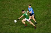 19 December 2020; Diarmuid O'Connor of Mayo in action against Michael Fitzsimons of Dublin during the GAA Football All-Ireland Senior Championship Final match between Dublin and Mayo at Croke Park in Dublin. Photo by Daire Brennan/Sportsfile