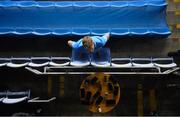 19 December 2020; Jonny Cooper of Dublin are interviewed by the media in the empty seats of the Hogan Stand after the GAA Football All-Ireland Senior Championship Final match between Dublin and Mayo at Croke Park in Dublin. Photo by Brendan Moran/Sportsfile