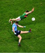 19 December 2020; Brian Howard of Dublin in action against Lee Keegan of Mayo during the GAA Football All-Ireland Senior Championship Final match between Dublin and Mayo at Croke Park in Dublin. Photo by Daire Brennan/Sportsfile