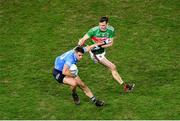 19 December 2020; Brian Howard of Dublin in action against Matthew Ruane of Mayo during the GAA Football All-Ireland Senior Championship Final match between Dublin and Mayo at Croke Park in Dublin. Photo by Daire Brennan/Sportsfile