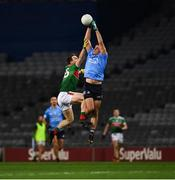 19 December 2020; Brian Howard of Dublin in action against Paul Towey of Mayo during the GAA Football All-Ireland Senior Championship Final match between Dublin and Mayo at Croke Park in Dublin. Photo by Ray McManus/Sportsfile
