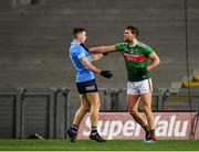 19 December 2020; Aidan O'Shea of Mayo tussles with David Byrne of Dublin during the GAA Football All-Ireland Senior Championship Final match between Dublin and Mayo at Croke Park in Dublin. Photo by Seb Daly/Sportsfile