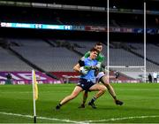 19 December 2020; Michael Fitzsimons of Dublin in action against Kevin McLoughlin of Mayo during the GAA Football All-Ireland Senior Championship Final match between Dublin and Mayo at Croke Park in Dublin. Photo by Seb Daly/Sportsfile