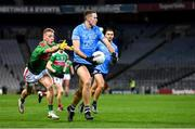 19 December 2020; Brian Fenton of Dublin in action against Eoghan McLaughlin of Mayo during the GAA Football All-Ireland Senior Championship Final match between Dublin and Mayo at Croke Park in Dublin. Photo by Seb Daly/Sportsfile