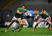 19 December 2020; Con O'Callaghan of Dublin in action against Oisín Mullin of Mayo during the GAA Football All-Ireland Senior Championship Final match between Dublin and Mayo at Croke Park in Dublin. Photo by Seb Daly/Sportsfile