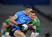 19 December 2020; Brian Fenton of Dublin in action against Matthew Ruane of Mayo during the GAA Football All-Ireland Senior Championship Final match between Dublin and Mayo at Croke Park in Dublin. Photo by Seb Daly/Sportsfile