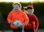 20 December 2020; Carly Kelly in action during the Tullow RFC Minis Training at Tullow RFC in Tullow, Carlow. Photo by Matt Browne/Sportsfile