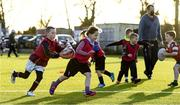 20 December 2020; Participants in action during the Tullow RFC Minis Training at Tullow RFC in Tullow, Carlow. Photo by Matt Browne/Sportsfile