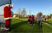 20 December 2020; Santa Claus during the Leinster Tullow RFC Minis Training at Tullow RFC in Tullow, Carlow. Photo by Matt Browne/Sportsfile
