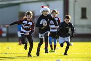 20 December 2020; Rocco Mulhall in action during the Tullow RFC Minis Training at Tullow RFC in Tullow, Carlow. Photo by Matt Browne/Sportsfile