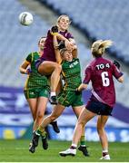 20 December 2020; Johanna Maher of Westmeath in action against Megan Thynne of Meath during the TG4 All-Ireland Intermediate Ladies Football Championship Final match between Meath and Westmeath at Croke Park in Dublin. Photo by Brendan Moran/Sportsfile