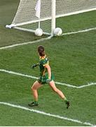 20 December 2020; Niamh O'Sullivan of Meath watches on as her shot rebounds off the goal post during the TG4 All-Ireland Intermediate Ladies Football Championship Final match between Meath and Westmeath at Croke Park in Dublin. Photo by Sam Barnes/Sportsfile